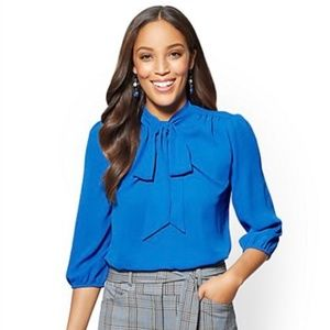 NY&CO - Bow-Accent Blouse - 7th Avenue